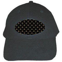 Gold Scales Of Justice On Black Repeat Pattern All Over Print  Black Cap by PodArtist
