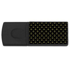 Gold Scales Of Justice On Black Repeat Pattern All Over Print  Rectangular Usb Flash Drive by PodArtist