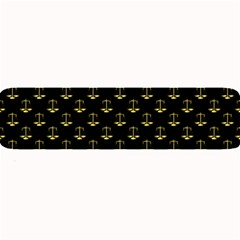 Gold Scales Of Justice On Black Repeat Pattern All Over Print  Large Bar Mats by PodArtist