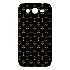 Gold Scales Of Justice On Black Repeat Pattern All Over Print  Samsung Galaxy Mega 5 8 I9152 Hardshell Case  by PodArtist