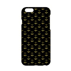 Gold Scales Of Justice On Black Repeat Pattern All Over Print  Apple Iphone 6/6s Hardshell Case by PodArtist