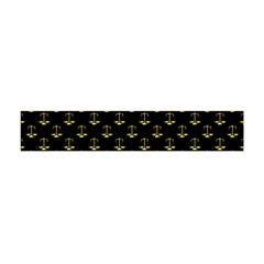 Gold Scales Of Justice On Black Repeat Pattern All Over Print  Flano Scarf (mini) by PodArtist