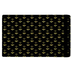 Gold Scales Of Justice On Black Repeat Pattern All Over Print  Apple Ipad Pro 9 7   Flip Case by PodArtist