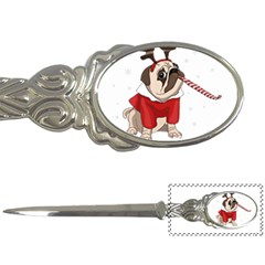 Pug Xmas Letter Openers by Valentinaart