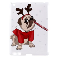 Pug Xmas Apple Ipad 3/4 Hardshell Case (compatible With Smart Cover) by Valentinaart