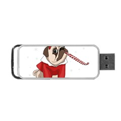 Pug Xmas Portable Usb Flash (one Side) by Valentinaart