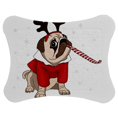 Pug Xmas Jigsaw Puzzle Photo Stand (bow) by Valentinaart