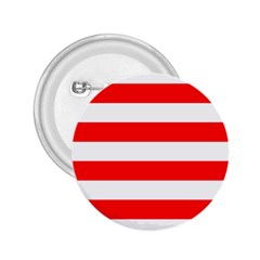 Christmas Red And White Cabana Stripes 2 25  Buttons by PodArtist