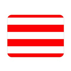 Christmas Red And White Cabana Stripes Double Sided Flano Blanket (mini)  by PodArtist