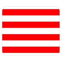 Christmas Red And White Cabana Stripes Double Sided Flano Blanket (small)  by PodArtist