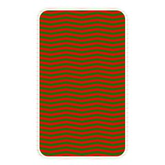 Christmas Red And Green Chevron Zig Zag Stripes Memory Card Reader by PodArtist