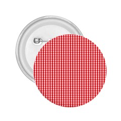 Small Snow White And Christmas Red Gingham Check Plaid 2 25  Buttons by PodArtist