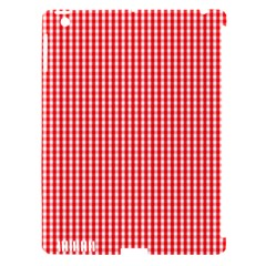 Small Snow White And Christmas Red Gingham Check Plaid Apple Ipad 3/4 Hardshell Case (compatible With Smart Cover) by PodArtist
