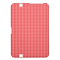 Small Snow White And Christmas Red Gingham Check Plaid Kindle Fire Hd 8 9  by PodArtist