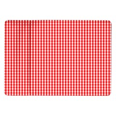 Small Snow White And Christmas Red Gingham Check Plaid Samsung Galaxy Tab 10 1  P7500 Flip Case by PodArtist