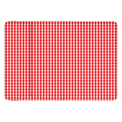 Small Snow White And Christmas Red Gingham Check Plaid Samsung Galaxy Tab 8 9  P7300 Flip Case by PodArtist
