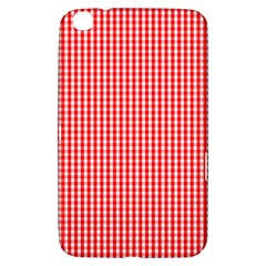 Small Snow White And Christmas Red Gingham Check Plaid Samsung Galaxy Tab 3 (8 ) T3100 Hardshell Case  by PodArtist