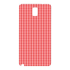 Small Snow White And Christmas Red Gingham Check Plaid Samsung Galaxy Note 3 N9005 Hardshell Back Case by PodArtist