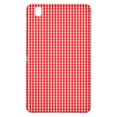 Small Snow White And Christmas Red Gingham Check Plaid Samsung Galaxy Tab Pro 8 4 Hardshell Case