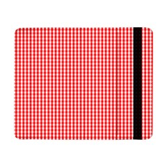 Small Snow White And Christmas Red Gingham Check Plaid Samsung Galaxy Tab Pro 8 4  Flip Case by PodArtist