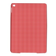 Small Snow White And Christmas Red Gingham Check Plaid Ipad Air 2 Hardshell Cases by PodArtist