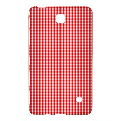 Small Snow White And Christmas Red Gingham Check Plaid Samsung Galaxy Tab 4 (7 ) Hardshell Case  by PodArtist