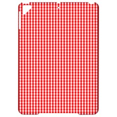Small Snow White And Christmas Red Gingham Check Plaid Apple Ipad Pro 9 7   Hardshell Case by PodArtist