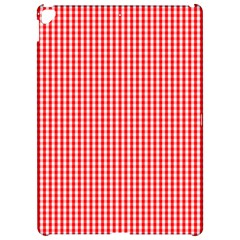 Small Snow White And Christmas Red Gingham Check Plaid Apple Ipad Pro 12 9   Hardshell Case by PodArtist