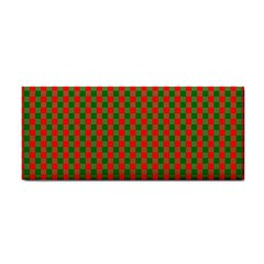 Large Red And Green Christmas Gingham Check Tartan Plaid Cosmetic Storage Cases by PodArtist