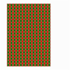 Large Red And Green Christmas Gingham Check Tartan Plaid Small Garden Flag (two Sides) by PodArtist