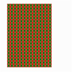Large Red And Green Christmas Gingham Check Tartan Plaid Large Garden Flag (two Sides) by PodArtist