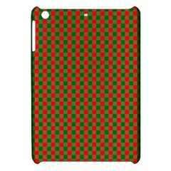 Large Red And Green Christmas Gingham Check Tartan Plaid Apple Ipad Mini Hardshell Case by PodArtist
