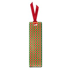 Large Red And Green Christmas Gingham Check Tartan Plaid Small Book Marks by PodArtist