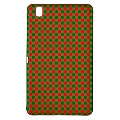 Large Red And Green Christmas Gingham Check Tartan Plaid Samsung Galaxy Tab Pro 8 4 Hardshell Case by PodArtist