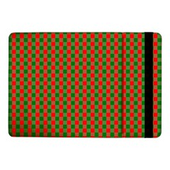 Large Red And Green Christmas Gingham Check Tartan Plaid Samsung Galaxy Tab Pro 10 1  Flip Case by PodArtist