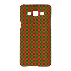 Large Red And Green Christmas Gingham Check Tartan Plaid Samsung Galaxy A5 Hardshell Case  by PodArtist