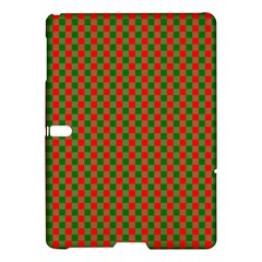 Large Red And Green Christmas Gingham Check Tartan Plaid Samsung Galaxy Tab S (10 5 ) Hardshell Case  by PodArtist