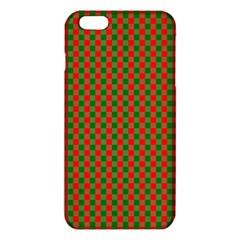 Large Red And Green Christmas Gingham Check Tartan Plaid Iphone 6 Plus/6s Plus Tpu Case by PodArtist