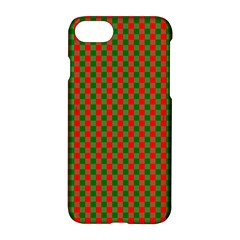 Large Red And Green Christmas Gingham Check Tartan Plaid Apple Iphone 8 Hardshell Case by PodArtist