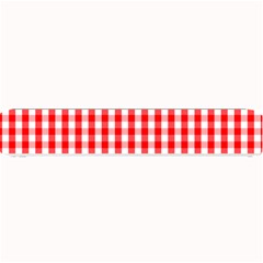 Large Christmas Red And White Gingham Check Plaid Small Bar Mats by PodArtist