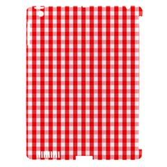 Large Christmas Red And White Gingham Check Plaid Apple Ipad 3/4 Hardshell Case (compatible With Smart Cover) by PodArtist