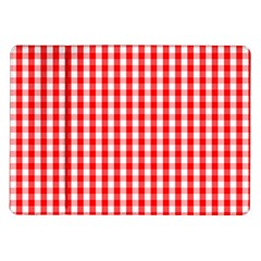 Large Christmas Red And White Gingham Check Plaid Samsung Galaxy Tab 10 1  P7500 Flip Case by PodArtist