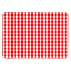 Large Christmas Red And White Gingham Check Plaid Samsung Galaxy Tab 8 9  P7300 Flip Case by PodArtist