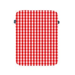 Large Christmas Red And White Gingham Check Plaid Apple Ipad 2/3/4 Protective Soft Cases by PodArtist