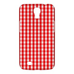 Large Christmas Red And White Gingham Check Plaid Samsung Galaxy Mega 6 3  I9200 Hardshell Case by PodArtist