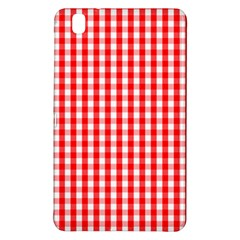 Large Christmas Red And White Gingham Check Plaid Samsung Galaxy Tab Pro 8 4 Hardshell Case by PodArtist