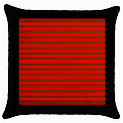 Christmas Red And Green Bedding Stripes Throw Pillow Case (black) by PodArtist