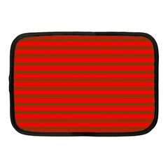 Christmas Red And Green Bedding Stripes Netbook Case (medium)  by PodArtist