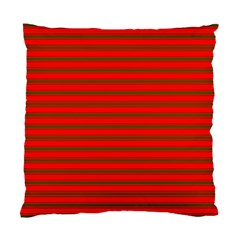 Christmas Red And Green Bedding Stripes Standard Cushion Case (two Sides) by PodArtist