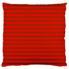 Christmas Red And Green Bedding Stripes Large Cushion Case (two Sides) by PodArtist